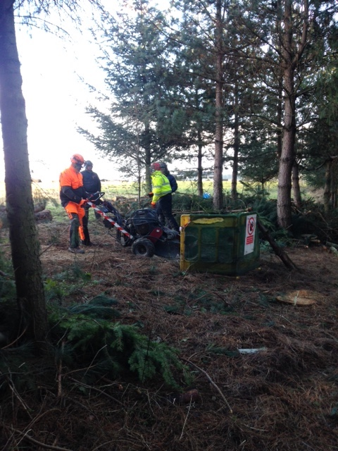 Stump grinder grinding training course 1
